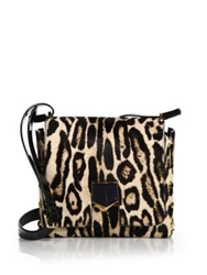 Jimmy Choo Locket Small Leopard Print Calf Hair Crossbody Bag