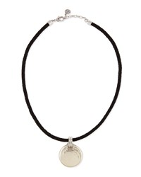 Majorica Storm Braided Leather And Coin Pearl Pendant Necklace White Black
