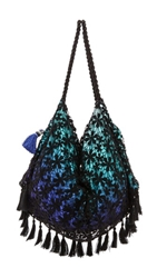 6 Shore Road By Pooja Sunset Beach Bag Green Ombre