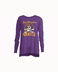 Royce Apparel Inc Women's East Carolina Pirates Noelle Long Sleeve T Shirt Purple