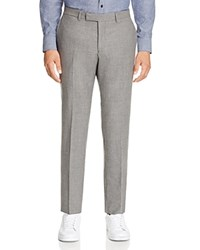 Hardy Amies Slim Fit Woven Trousers Pearl Grey
