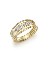 Meira T 14K Yellow Gold Ring With Diamonds White Gold