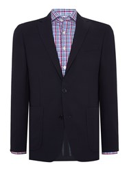 Richard James Mini Quilt Effect Sb2 Jacket Navy