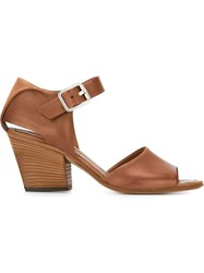 Pantanetti Buckled Sandals Brown