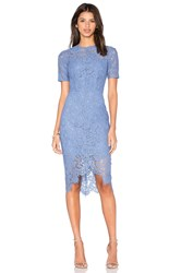 Lover Oasis Fitted Mini Dress Blue