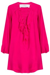 Iro Ruffled Tunic Top Pink