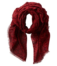 San Diego Hat Company Bss1401 Skull Print Fabric Scarf Wine Red Scarves
