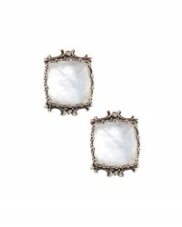 Konstantino Aura Silver And Mother Of Pearl Cushion Earrings White