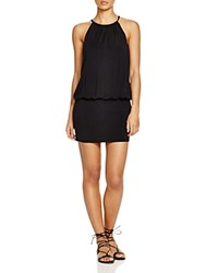 Laundry By Shelli Segal Solid Blouson Dress Swim Cover Up Black