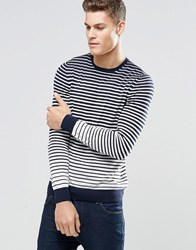 Hugo Boss By Jumper With Breton Stripe In Navy Navy