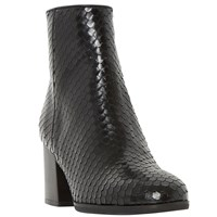 Dune Black Pitche Ankle Boots Black Reptile