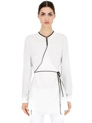 Vionnet Wrap Over Silk Crepe De Chine Shirt