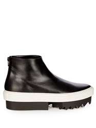 Givenchy Leather Platform Boots Black