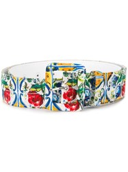Dolce And Gabbana Majolica Print Belt Multicolour