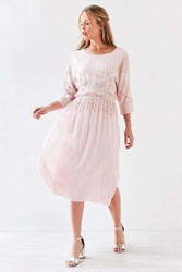 Kimchi And Blue Antoinette Glitter Dolman Midi Dress Blush