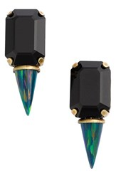 Lionette By Noa Sade Women's 'Gali' Simulated Opal And Swarovski Crystal Spike Stud Earrings