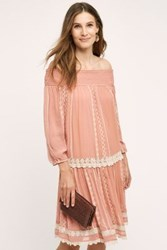 Anthropologie Orchard Lace Dress Peach