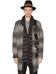 Antonio Marras Oversize Embroidered Wool Blend Cardigan