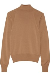 The Row Teresa Merino Wool And Cashmere Blend Turtleneck Sweater Camel