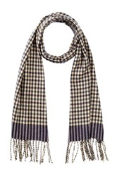 Amicale Checker Print Scarf Beige