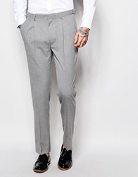 Asos Wedding Skinny Suit Trouser In Grey Gray