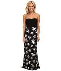 Hurley Tomboy Maxi Strapless Dress Black Palm Women's Dress