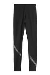 Dkny Legging With Pleather Trim Black