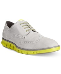 Cole Haan Zerogrand Canvas Wing Tip Oxfords Men's Shoes