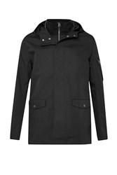 French Connection Men's Maxubi Satin Bonded Cotton Jkt Black