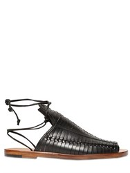 Daniele Michetti 10Mm Woven Leather Sandals