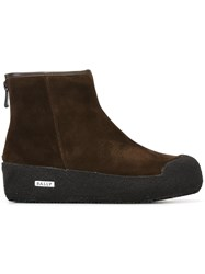 Bally 'Guard' Ankle Boots Brown