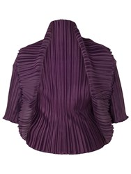 Chesca Crush Pleat Bolero Aubergine