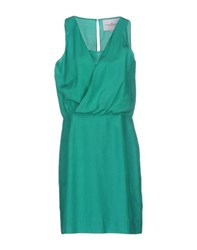 Designers Remix Collection Dresses Short Dresses Women Green