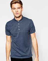 Selected Homme Pique Polo Shirt With Snap Buttons Blue
