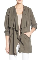 Trouve Women's Trouve Drapey Open Front Jacket