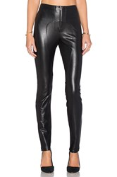 Bcbgmaxazria Sayer Faux Leather Moto Legging Black