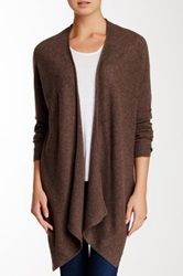 14Th And Union Handkerchief Hem Cashmere Cardigan Brown