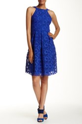Eva Franco Nova Print Dress Blue
