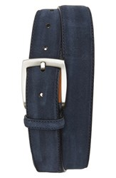Men's Magnanni 'Crosta' Suede Belt Navy