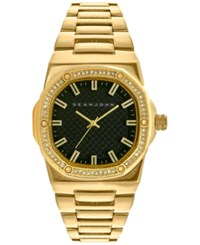 Sean John Men's Gold Tone Bracelet Watch 42X44mm 10026891