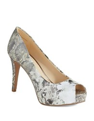Nine West Camya Peep Toe Pumps Grey
