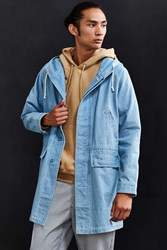 Stussy Long Denim Parka Jacket Light Blue