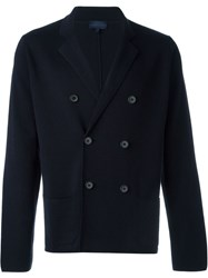 Lanvin Double Breasted V Neck Cardigan Blue