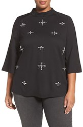 Melissa Mccarthy Seven7 Plus Size Women's Embellished Top