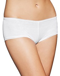 Fine Lines Pure Cotton Boyleg Panty White