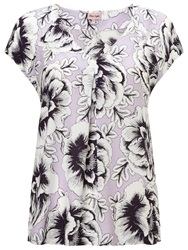 Phase Eight Marianne Floral Blouse Pale Lilac