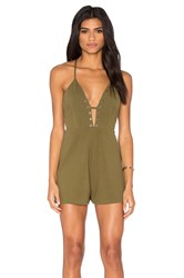 Oh My Love Halter Stud Romper Army