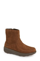 Fitflop 'Loaff' Short Boot Women Chocolate Brown Suede