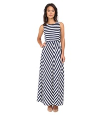 Brigitte Bailey Riley Striped Maxi Dress Navy White Women's Dress Blue