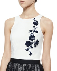 Sachin And Babi Noir 3D Floral Embroidered Tank